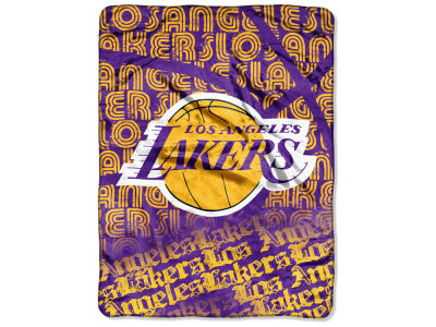 "Los Angeles Lakers The Northwest Company NBA Micro Raschel 46x60 ""Clear Out"" Throw Blanket"