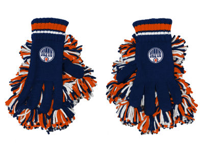 Edmonton Oilers adidas NHL Youth Pom Pom Gloves