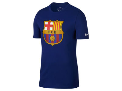 FC Barcelona Nike Men's Club Team Evergreen Crest T-Shirt