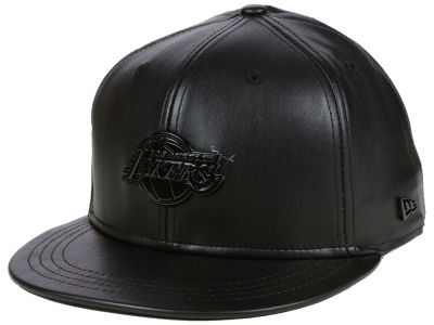 Los Angeles Lakers New Era NBA Black Label Glossy Metal 9FIFTY Snapback Cap