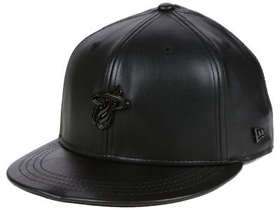 Miami Heat New Era NBA Black List Glossy Metal 9FIFTY Snapback Cap