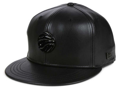 Toronto Raptors New Era NBA Black Label Glossy Metal 9FIFTY Snapback Cap