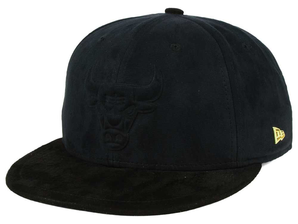 Chicago Bulls New Era NBA Black Label Snakeskin 9FIFTY Snapback Cap ... e26b4ef42