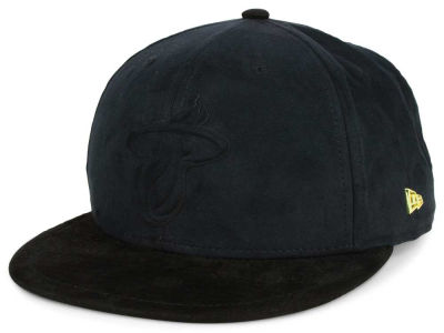 Miami Heat New Era NBA Black List Snakeskin 9FIFTY Snapback Cap