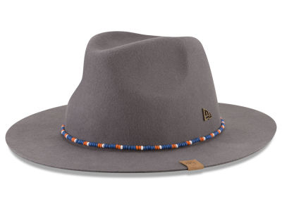 New York Knicks New Era NBA Black Label Beaded Brim Fedora