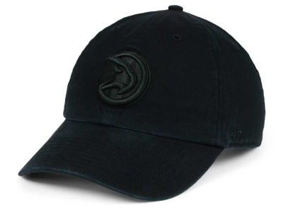 Atlanta Hawks '47 NBA Black on Black '47 CLEAN UP Cap