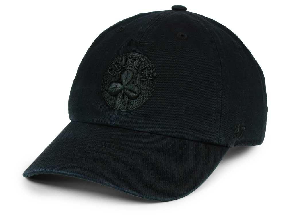 new style dce2d 6537e ... wholesale boston celtics 47 nba black on black 47 clean up cap cd08a  7a921