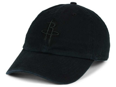 Houston Rockets '47 NBA Black on Black '47 CLEAN UP Cap