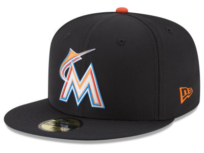 Miami Marlins New Era MLB Batting Practice Prolight 59FIFTY Cap