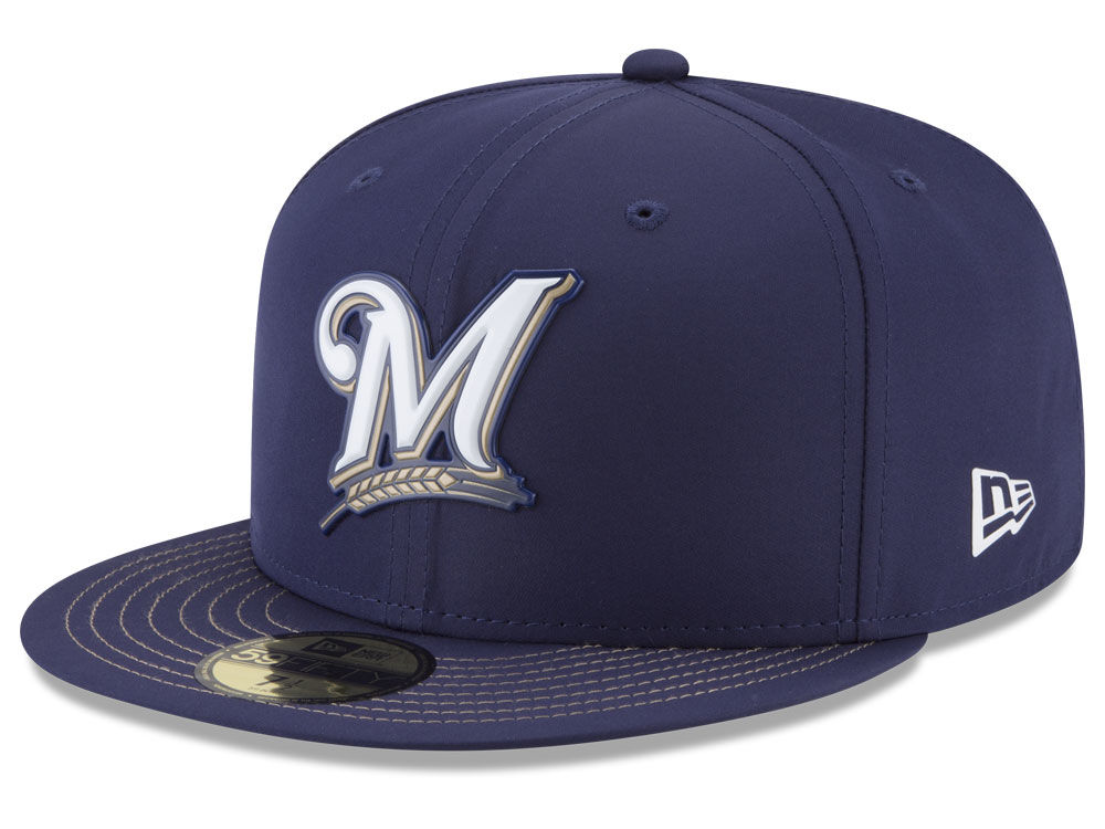 77912936f1f Milwaukee Brewers New Era MLB Batting Practice Prolight 59FIFTY Cap ...