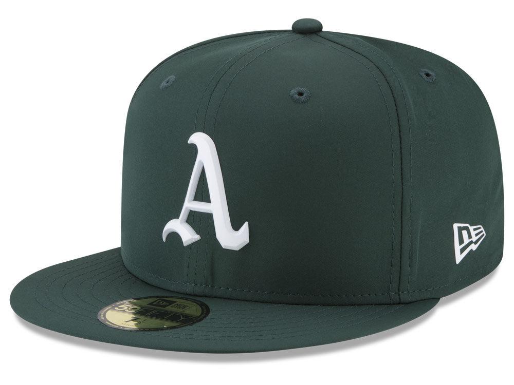 3a8df3a02a2b8 Oakland Athletics New Era MLB Batting Practice Prolight 59FIFTY Cap ...