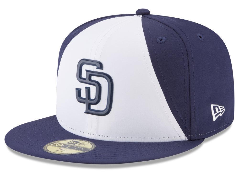 aad13981a35 San Diego Padres New Era MLB Batting Practice Prolight 59FIFTY Cap ...