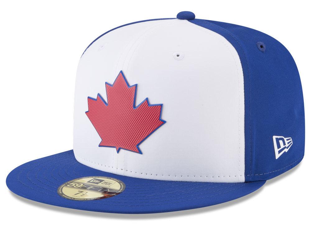 Toronto Blue Jays New Era MLB Batting Practice Prolight 59FIFTY Cap ... 889f3f82a65f