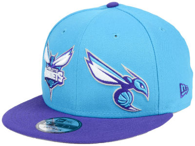 Charlotte Hornets New Era NBA Double Whammy 9FIFTY Snapback Cap