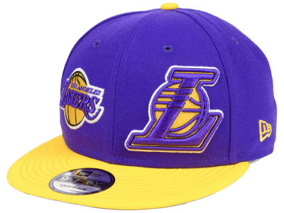 Los Angeles Lakers New Era NBA Double Whammy 9FIFTY Snapback Cap