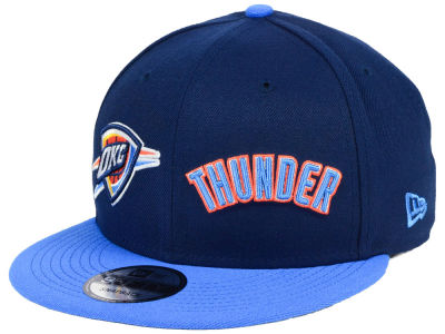 Oklahoma City Thunder New Era NBA Double Whammy 9FIFTY Snapback Cap