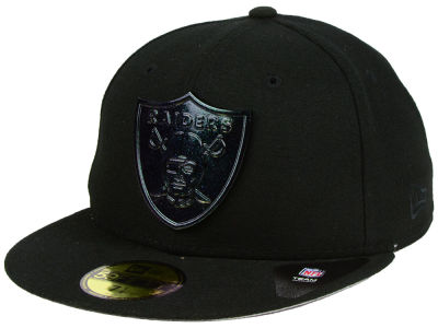 Oakland Raiders New Era NFL Speckle Sheen 59FIFTY Cap