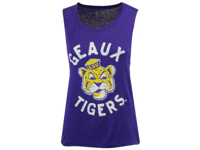 LSU Tigers Retro Brand NCAA Women's Rayon Rocker Tank