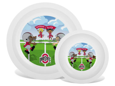 Ohio State Buckeyes Plate & Bowl Set