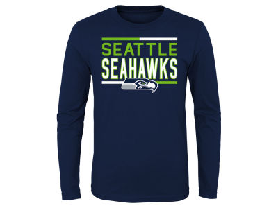 Seattle Seahawks Outerstuff NFL Youth Flag Runner Long Sleeve T-Shirt
