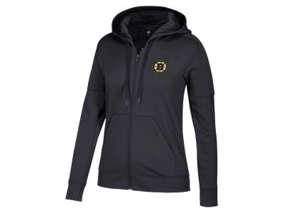 Boston Bruins adidas NHL Women's Logo Stitched Full Zip Hooded Sweatshirt