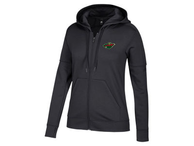 Minnesota Wild adidas NHL Women's Logo Stitched Full Zip Hooded Sweatshirt