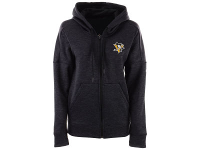 Pittsburgh Penguins adidas NHL Women's Logo Stitched Full Zip Hooded Sweatshirt