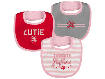 Toronto Raptors NBA Pink Fair Catch 3-PCE Bib Set