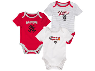 Toronto Raptors Outerstuff NBA Newborn 3-Piece Creeper Set