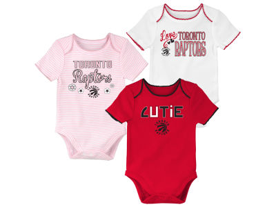 Toronto Raptors Outerstuff NBA Girls Newborn 3rd Quarter 3-Piece Creeper Set
