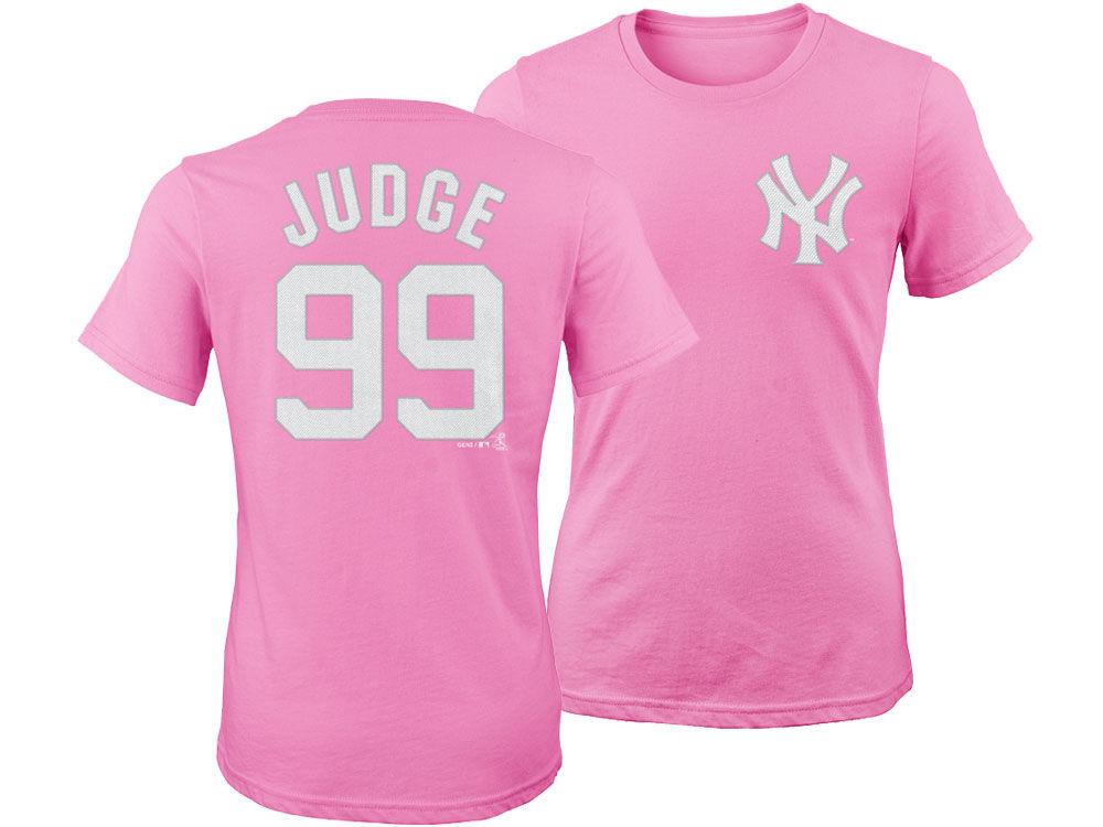 New York Yankees Aaron Judge Majestic MLB Girls Player T-Shirt ...