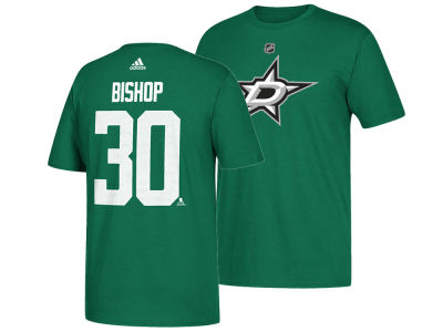Dallas Stars Ben Bishop adidas NHL Men's Silver Player T-shirt