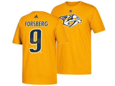 Nashville Predators Filip Forsberg adidas NHL Men's Silver Player T-shirt