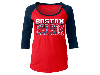 Boston Red Sox 5th & Ocean MLB Women's Plus Raglan T-shirt
