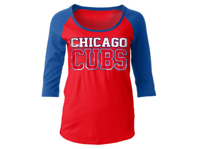 Chicago Cubs 5th & Ocean MLB Women's Plus Raglan T-shirt