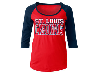St. Louis Cardinals 5th & Ocean MLB Women's Plus Raglan T-shirt