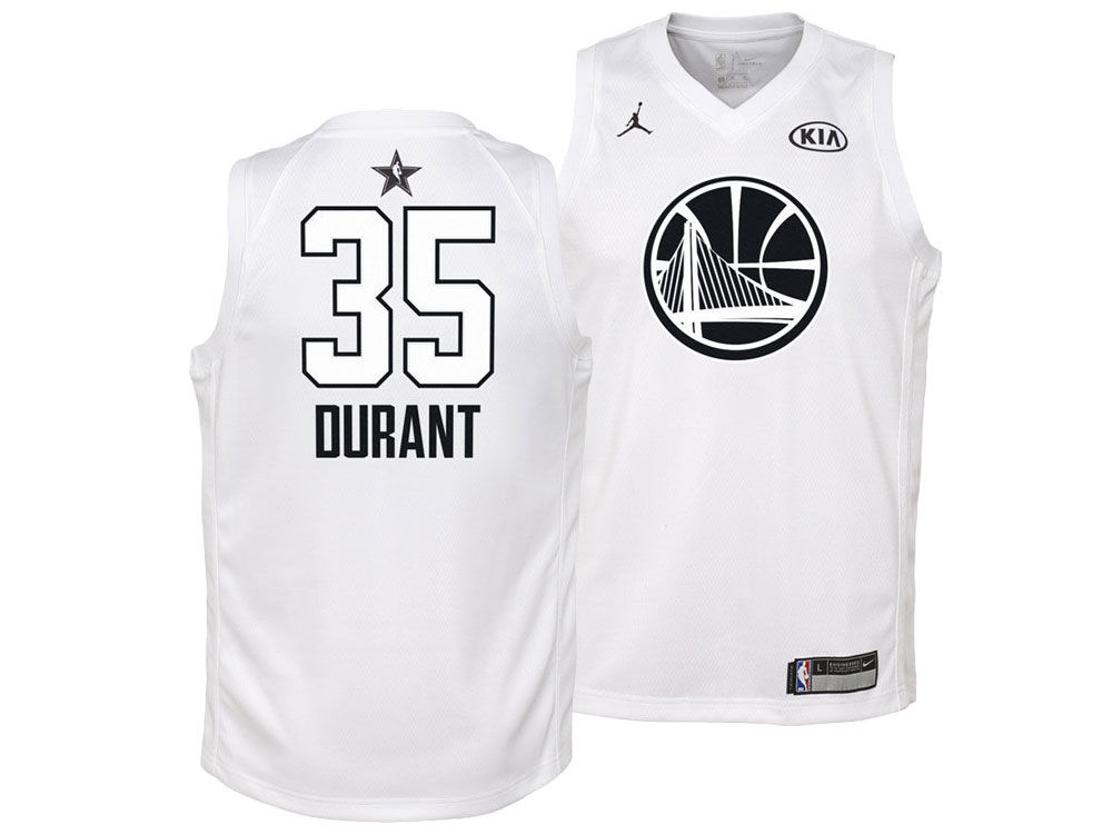 1abf69e1e Golden State Warriors Kevin Durant Nike 2018 NBA Youth All-Star Swingman  Jersey