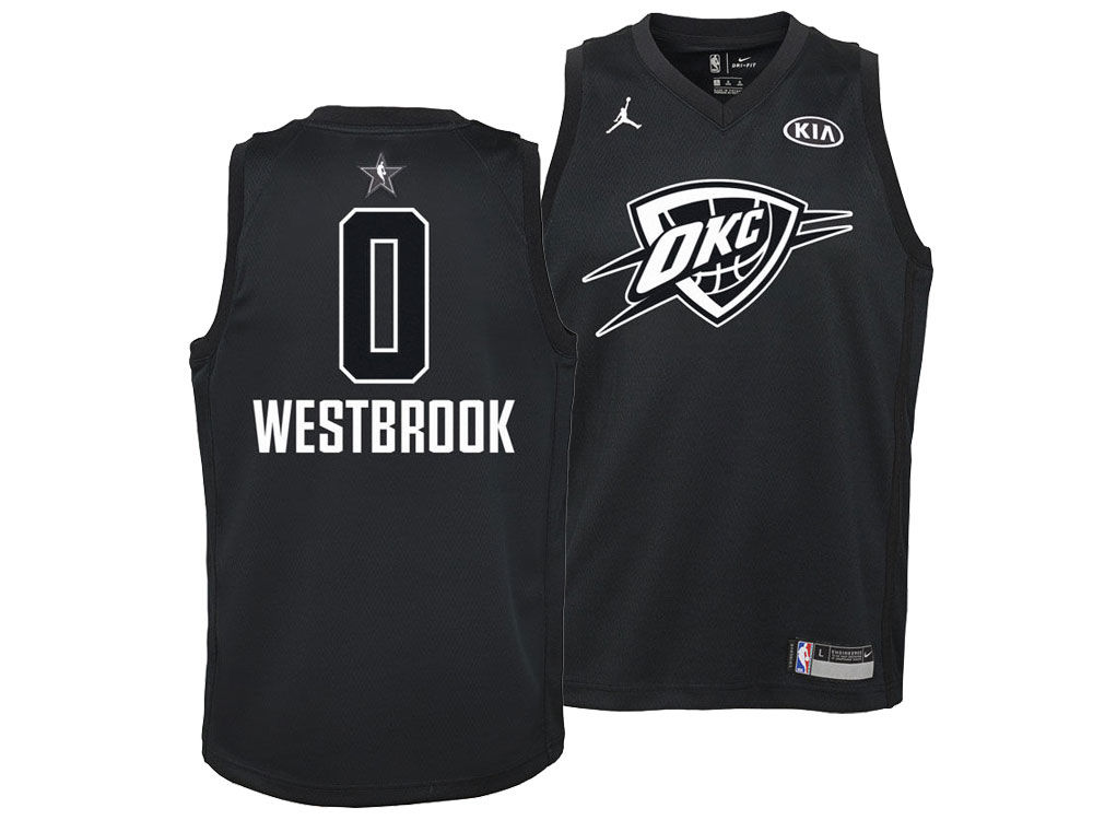 0b5c2f5cc Oklahoma City Thunder Russell Westbrook Nike 2018 NBA Youth All-Star  Swingman Jersey