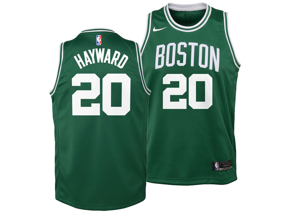 Boston Celtics Gordon Hayward Nike NBA Youth Icon Swingman Jersey ... 87a8e4af4a0e
