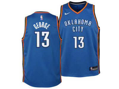 Oklahoma City Thunder Paul George Nike NBA Youth Icon Swingman Jersey