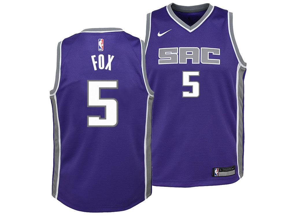 Sacramento Kings DeAaron Fox Nike NBA Youth Icon Swingman Jersey ... 432dba56a
