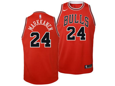 Chicago Bulls Lauri Markkanen Nike NBA Youth Icon Swingman Jersey