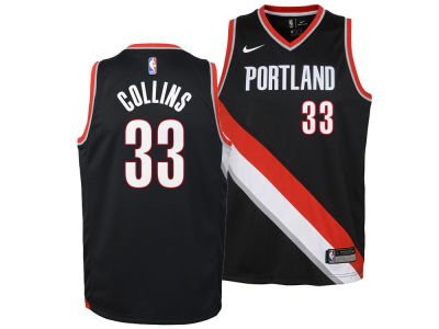 Portland Trail Blazers Zach Collins Nike NBA Youth Icon Swingman Jersey