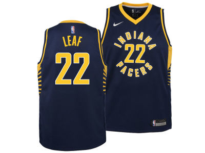 Indiana Pacers T.J. Leaf Nike NBA Youth Icon Swingman Jersey