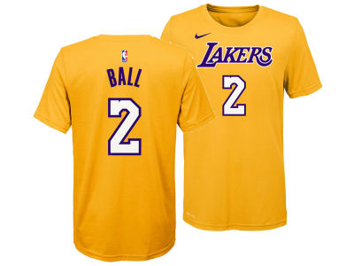 Los Angeles Lakers Lonzo Ball Nike NBA Youth Icon Name and Number T-Shirt