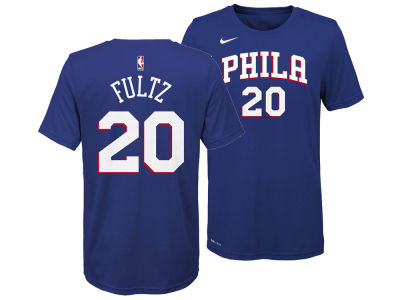 Philadelphia 76ers Markelle Fultz Nike NBA Youth Icon Name and Number T-Shirt
