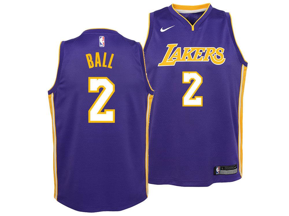 Los Angeles Lakers Lonzo Ball Nike NBA Youth Statement Swingman Jersey  2f802d6ae