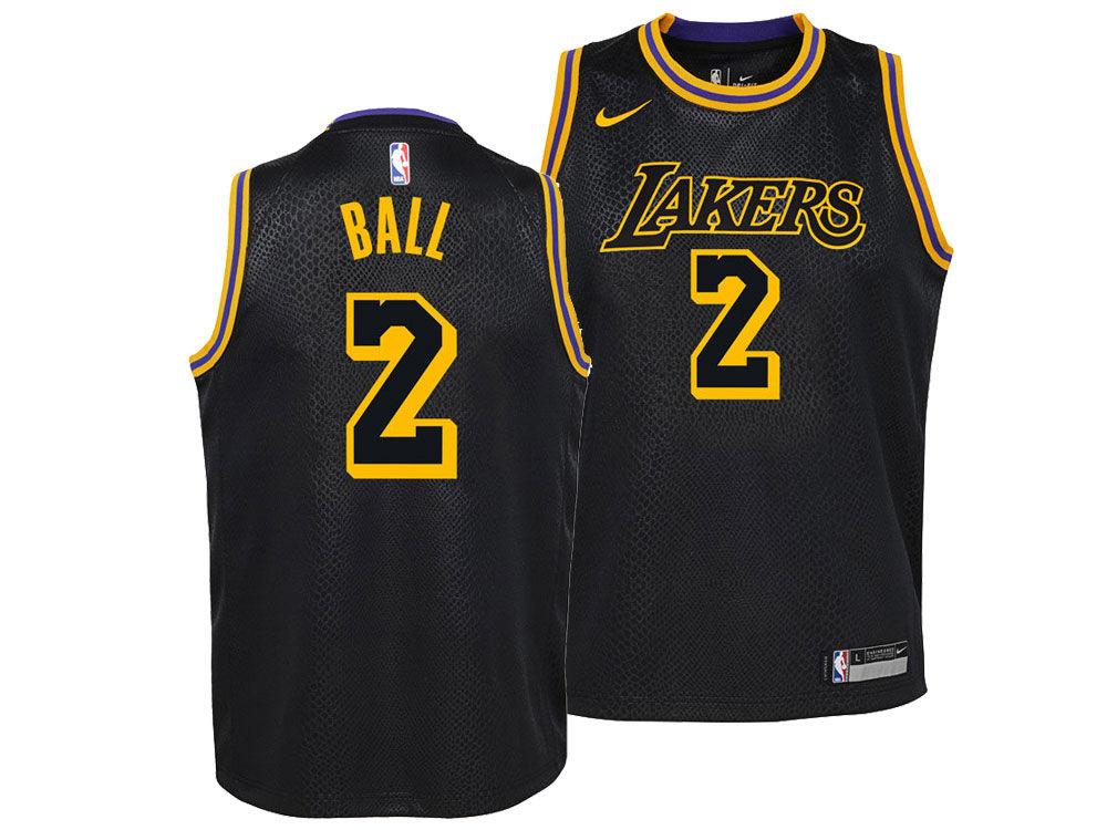 Los Angeles Lakers Lonzo Ball Nike NBA Youth City Edition Swingman Jersey  df63eded1