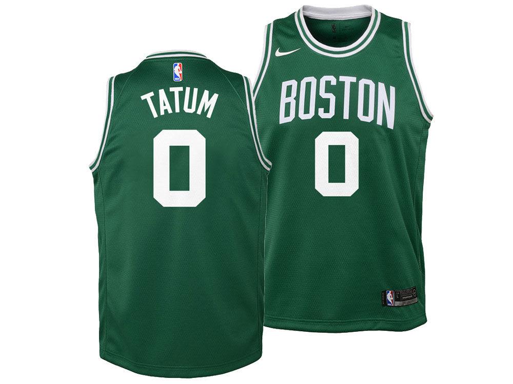 Boston Celtics Jayson Tatum Nike NBA Youth Icon Swingman Jersey ... c1bc5f9d4