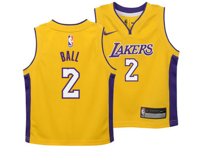Los Angeles Lakers Lonzo Ball Nike NBA Toddler Icon Replica Jersey